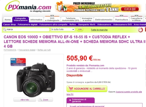 Su pixmania.it lo stesso pacchetto costa 40€ di meno !!!